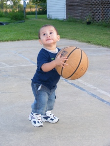 little boy basketball